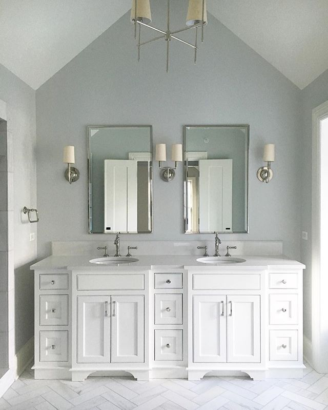 Gray Owl Kitchen: Mid-week Pause For This Calming #masterbath In Benjamin Moore Gray Owl...woot,woot