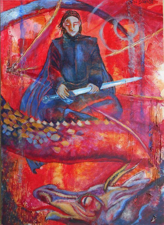 Saint George and the Dragon di Arsborealis su Etsy