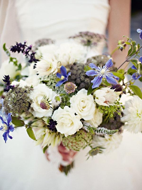 Wild flower bridesmaids bouquets