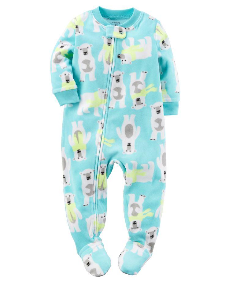 Baby Boy 1-Piece Fleece PJs | Carters.com