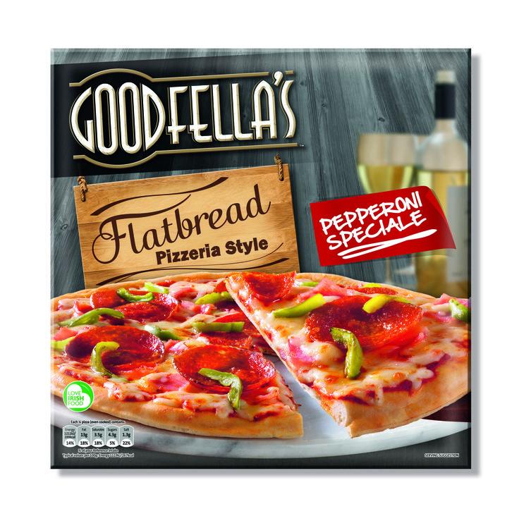 Goodfellas Flatbread Pizza, designed by Mesh Design, Dublin!