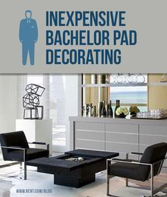 Men are often accused of having the same decorating style: none at all. Here are some easy and inexpensive ways to decorate your apartment for a stylish bachelor pad. [Rent.com Blog] #apartment #decorating #bachelorpad