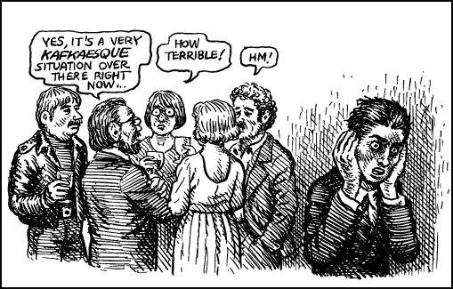 Don't Embarrass the Bureau - From top to bottom: Jacob Sutton, Kafka,...