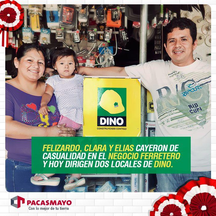 """""""Tenemos 2 años asociados a Dino y obtenemos un mejor precio en el cemento. Ahora lo distribuimos en 12 o 15 ferreterías de la zona"""""""