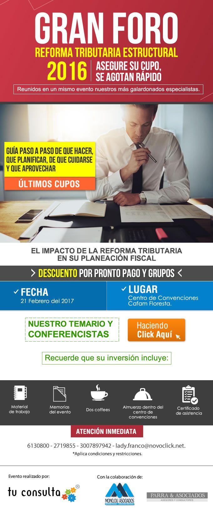 #NOVOCLICK esta con #GranForo #Reforma tributaria estructural 2016