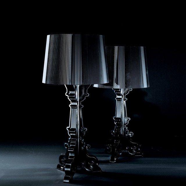 des lampes design Bourgie noires et élégantes par Kartell