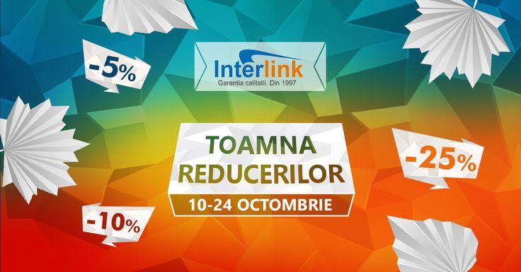 Profita de TOAMNA REDUCERILOR si obtine produse la preturi promotionale intre 10 si 24 octombrie https://www.interlink.ro/