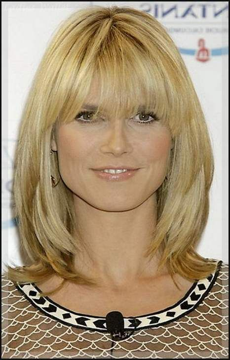 Frisuren Mit Pony Blond Mittellang Frisure Style Blond
