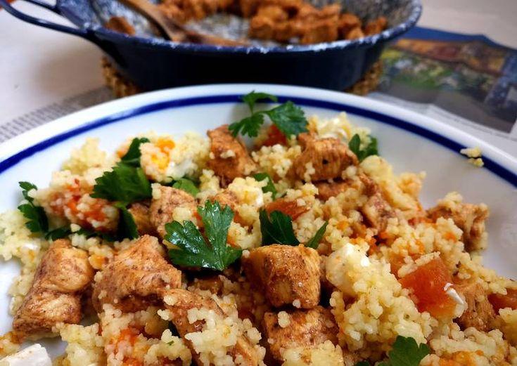 Marokkói csirke saláta
