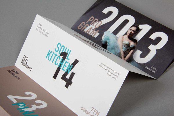 Motion Theater by Caroline Grohs, via Behance . Idea . Invite card . Ticket . Graphic Design .