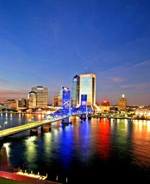 One Great Night in Jacksonville   floridatravellife.com - Great photo taken from one of our guest rooms! (Crowne Plaza)