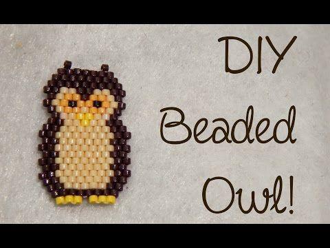 DIY Bead Owl Brick Stitch Charm ¦ The Corner of Craft ~ Seed Bead Tutorials