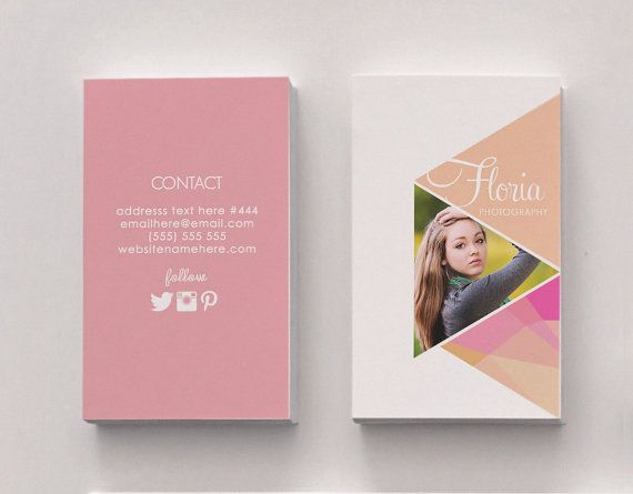 242 best business card inspiration images on pinterest business floria double sided business card instant download reheart Choice Image