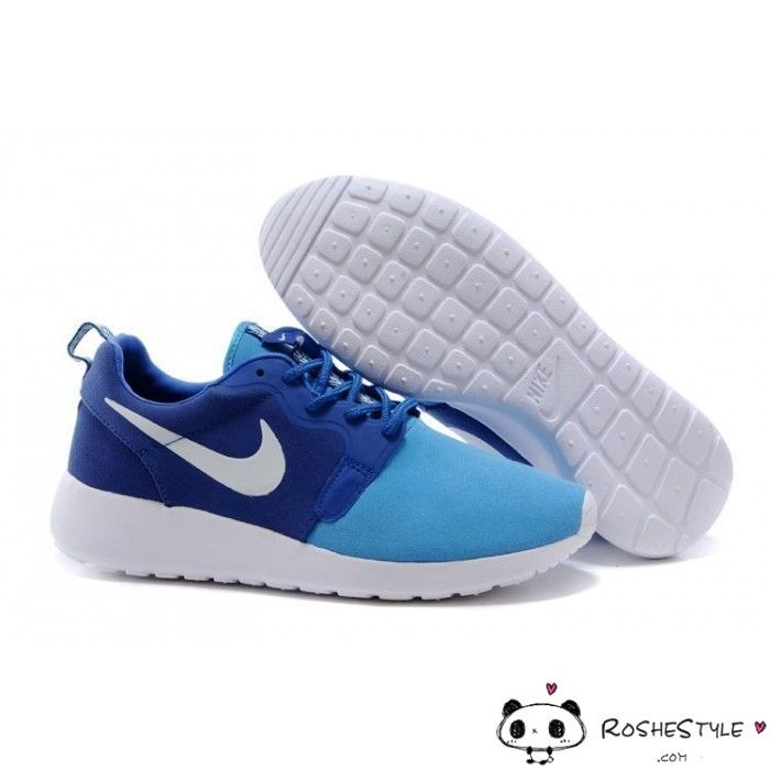 Nike Roshe Run Hyperfuse Trainers Blue White Men