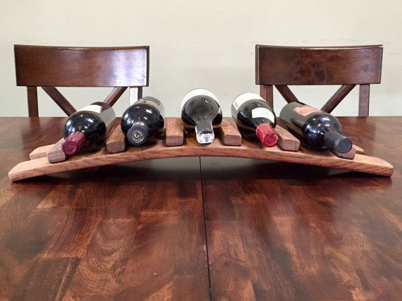 Wine Barrel Stave 5 Bottle Holder di StaveArt su Etsy