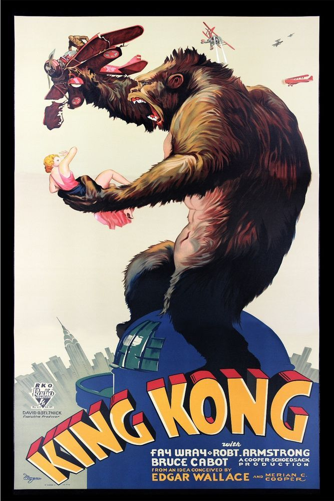 Vintage Old Horror Movie Poster King Kong Remastered Scary Giant