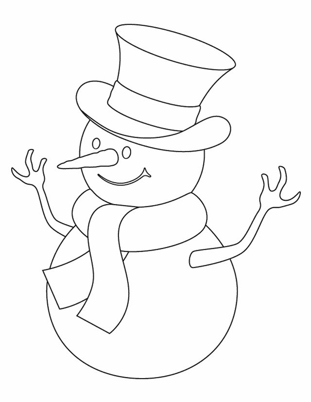 Snowman Cut Out Template Coloring | Coloring Pages
