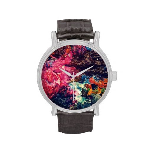 Abstract painting vintage style watches