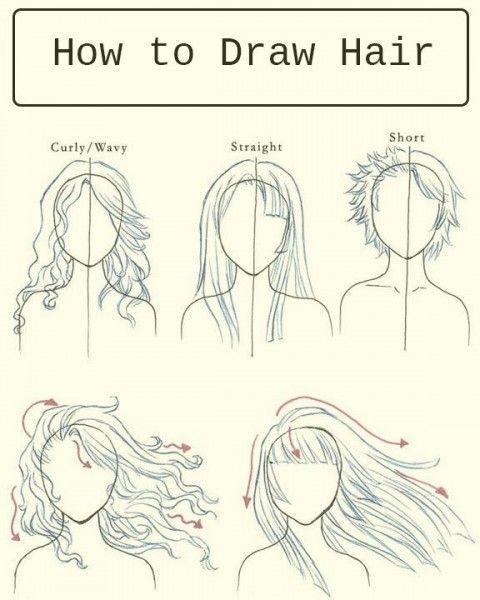 Como dibujar cabello de mujer