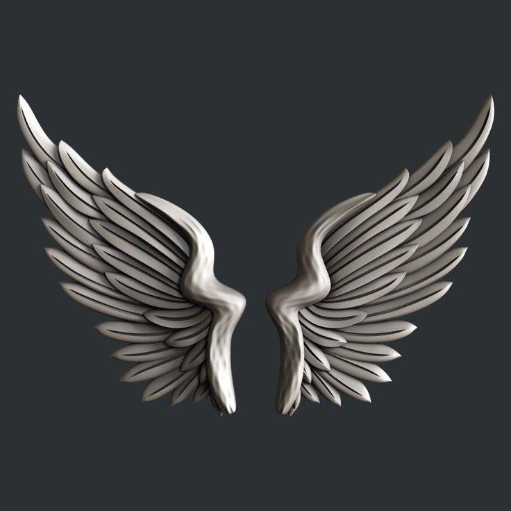 3d STL models for CNC, Artcam, Aspire, relief wings 3d