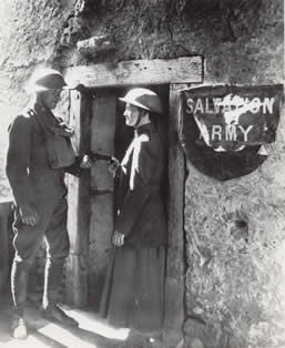"""National Donut Day commemorates the """"donut lassies,"""" female Salvation Army volunteers who provided writing supplies, stamps, clothes-mending and home-cooked meals, and of course, donuts, for soldiers on the front lines. Approximately 250 Salvation Army volunteers provided assistance to American soldiers in France starting in 1917 during WWI."""