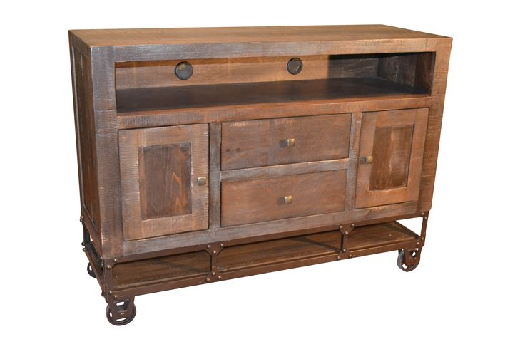 """Greenview 52"""" Forged Iron Base TV Stand"""