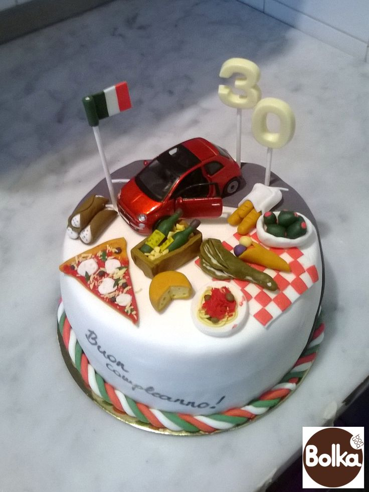 Decorated cake/dísztorta (30th birthday, Italian Style)