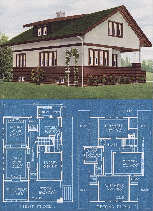 600 Best Images About Vintage House Plans On Pinterest