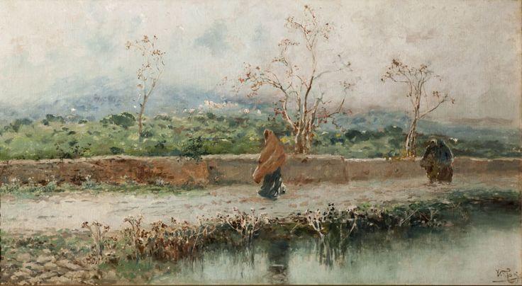 Vento e nebbia (olio su tela, 68,5x131 cm, collezione privata)