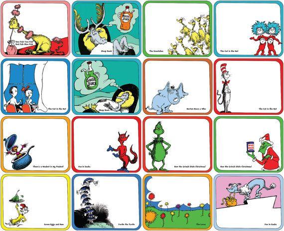 Dr. Seuss Food Label DIY Set of 40 PDF Form by AmpersandCreations
