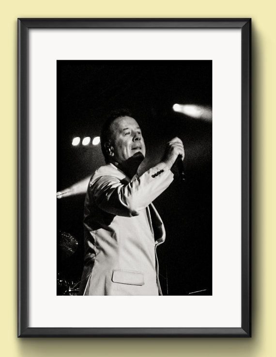 Music, Simple Minds, Jim Kerr, Music Photography, Concert Photography, Live Music, Wall Art, Wall Decor