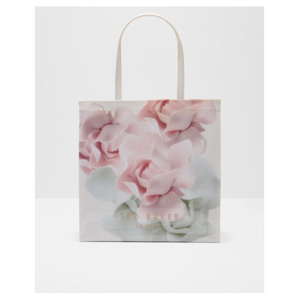 Ted Baker Porcelain Rose large shopper bag (€52) ❤ liked on Polyvore featuring bags, handbags, ted baker purse, shopper handbags, handle shopping bags, ted baker bag and shopping bag