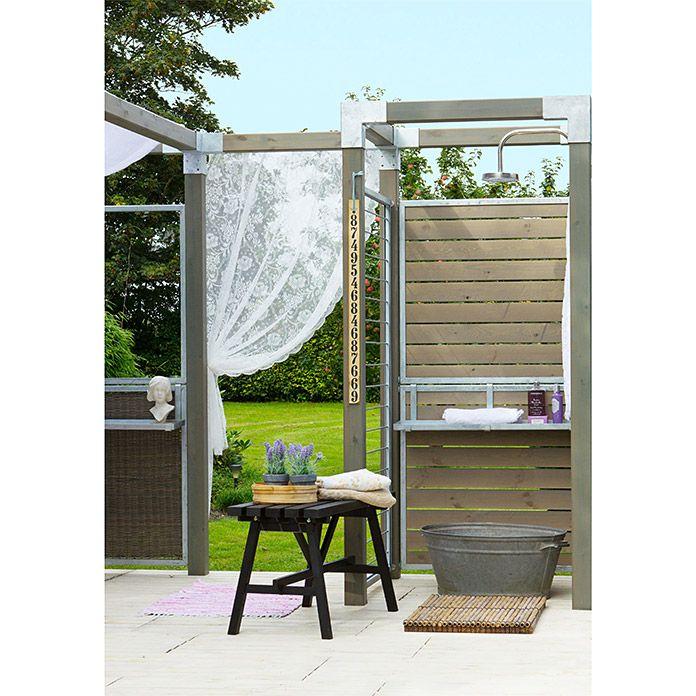 Plus Sichtschutz Halbelement Cubic 90 X 180 Cm Gerade Graubraun Home Living Bauhaus Wohnen