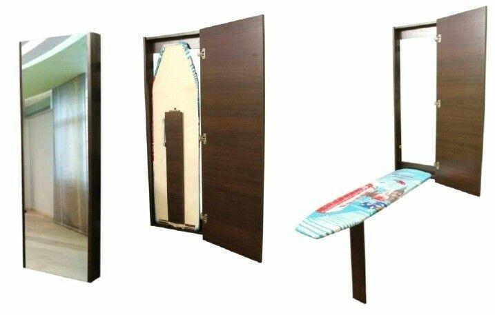 Гладильные доски трансформеры. встроенные в шкафчик зеркало. Отличное решение!