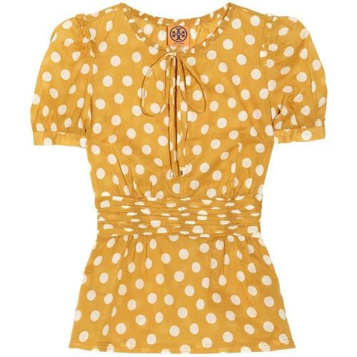 Yellow Polka Dot Blouse 84