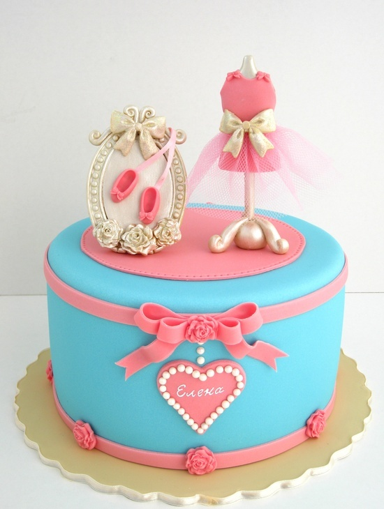 Dress-up party cake