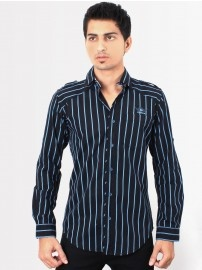 #RigAnthony #Men Blue Stripped Shirt