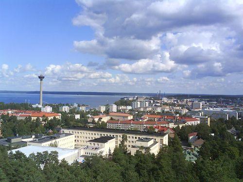 Näkötornilla kannattaa poiketa munkkikahvilla - klassikko. #Tampere