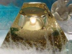 Orgonitová lampička Smaragd & runa