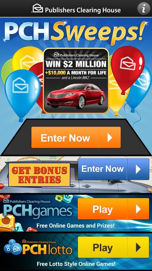 PCH Sweeps - Android Apps on Google Play | Hi yes i Ramin