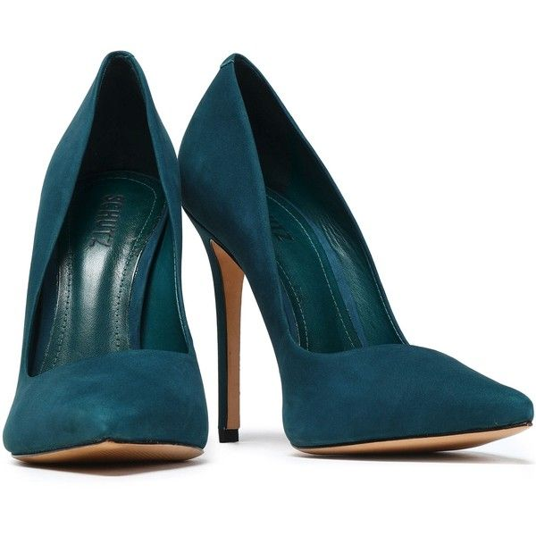 shoes, pointy-toe pumps, suede