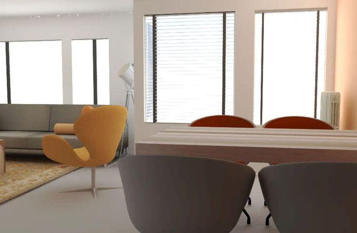 interieuradvies woonkamer leeuwarden appartement zithoek eethoek keuken friesland by Via Lin