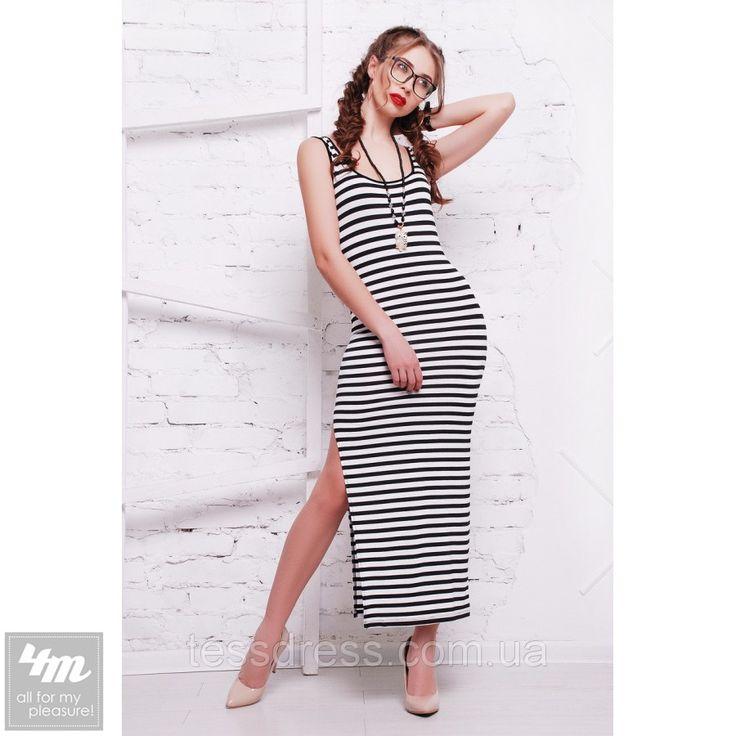 Платье-майка TessDress «Энди» (В полоску) http://lnk.al/4iU8  #лук #нарядныеплатья #платье #платьемечты #топ #новинки #одеждаУкраина #4m #4m.com.ua