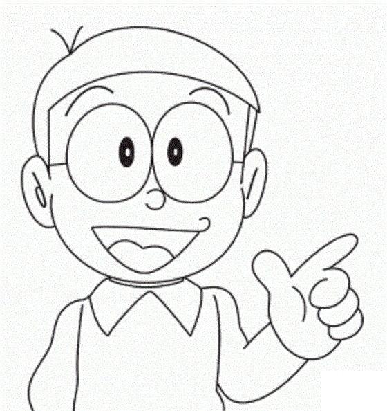 Nobita Para Colorear Easy Cartoon Drawings Cute Cartoon Drawings Drawing Cartoon Characters