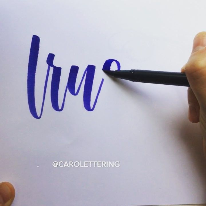 "232 Likes, 5 Comments - Caroline Bryan (@carolettering) on Instagram: ""The word on my heart these days 💗 hope your week is off to a great start! . Tombow dual brush pen…"""