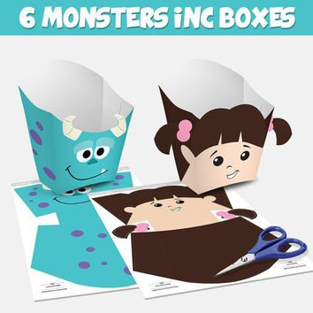 6 Popcorn Box Monsters Inc - box popcorn Monsters Inc (You can purchase)