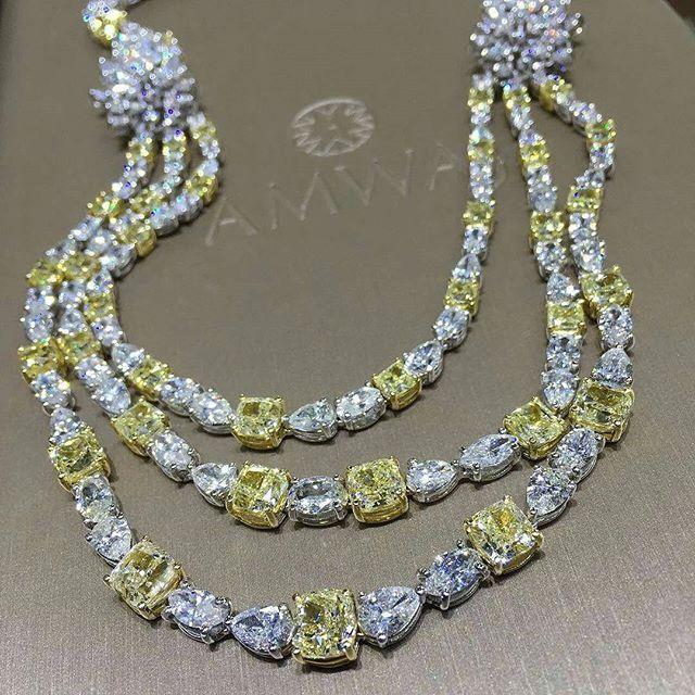 @amwaj_jewellery breath-taking collections at the Jewellery Arabia 2016 starting tomorrow!
