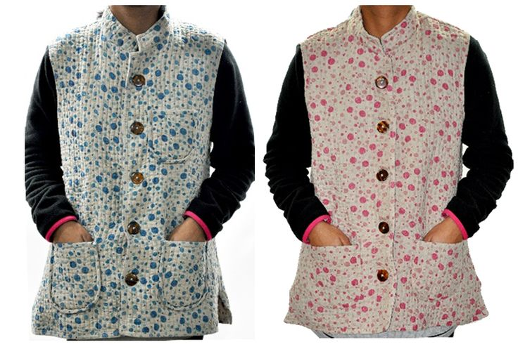 Quilted  linen printed jackets
