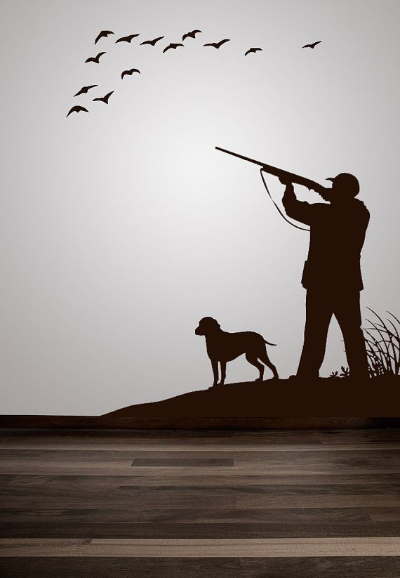 duck geese pheasant hunting scene decal by