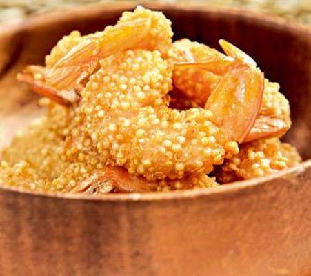 Receta: Camarones apanados con quínoa | De buena mesa